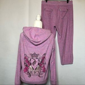 Juicy Couture terry cloth sweat suit